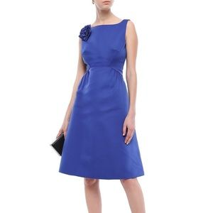 NEW Kate Spade Floral-appliquéd Faille Dress